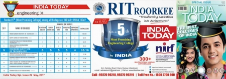 RIT ROORKEE ADMISSION OPEN 2017