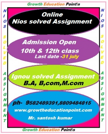 nios solved assignment of nios school for 10th ^ 12th class 2017-18
