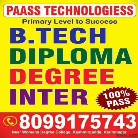 paass tuitions for b-tech inter degree diploma