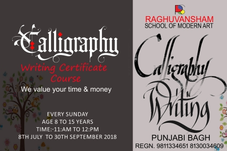 calligraphy writing certificate course