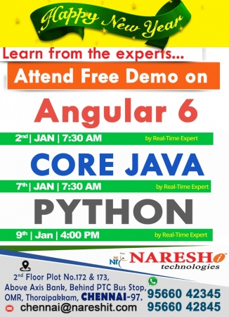 Learn Python Training in Chennai by Expert - Naresh IT